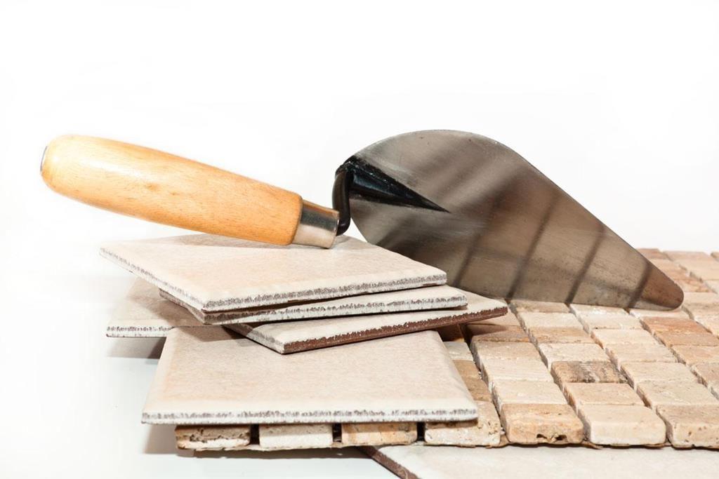 шпатель, плитка, керамическая плитка